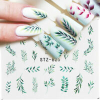 Nail Art Water Transfer Sticker Decals Flower Leaf Summer Decoration DIY Tips