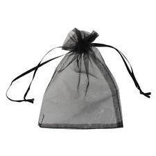 Lotto 25 bustine buste sacchetti regalo in organza NERO Y7L6