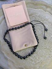 lola rose semi precious necklace Metallic Black Adjustable