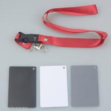 3 in 1 Digital White Black Grey Balance Cards Neck Strap for Digital Photography
