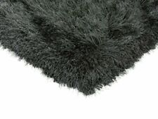 Cascade Slate Grey Monochrome Non Shed Warm Polyester Shaggy Living Room Rugs