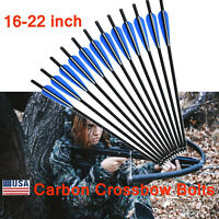 Hot Hunting Crossbow Bolts Mixed Carbon Arrows for Archery Target Outdoor 16-22""