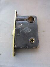 VTG Antique Brass Door Lock Russwin R&E Co Russell Erwin P1243 Push Button