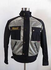 **Superb** Mens BELSTAFF Nylon Biker Jacket, Size M, Silver & Black design DR480