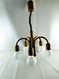 Dänisch Design Teakholz 70er DOMUS Leuchte CANDELA? Typ 2455