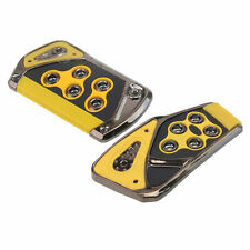2pcs Auto Car Automatic Brake Gas Pad Pedals Cover Yellow Non-Slip for Ford