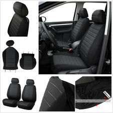 Black+Gray 5MM Foam Car Seat Covers 2Pcs Front Seat Covers Cushion For Interior