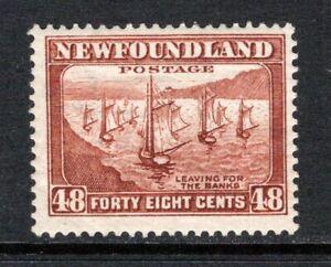 Newfoundland 1932-38  (p13½)  48c. Fishing Fleet SG228c MNH