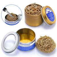 Welding Soldering Solder Iron Tip Cleaner Brass Wire Ball With Rosin Flux US
