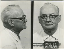 Photo Bertillon identification Policière Police Mug Shot Usa Philadelphia 1962