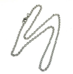 3mm wide hypoallergenic 304 stainless steel cable chain 16 18 20 22 inch lengths