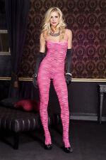 Body da donna rosa in nylon