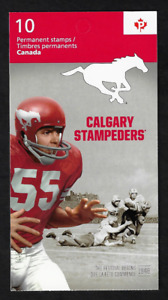 Canada -Booklet Pane of 10 -100th Grey Cup: Calgary Stampeders #2571a (BK502)
