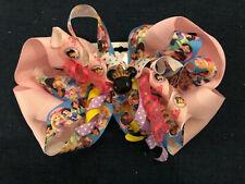 New Custom Boutique Hairbow Disney Princess Snow White Cinderella Aurora Tiana+