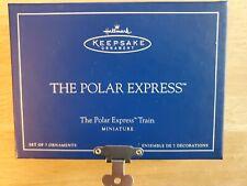 Hallmark Keepsake Ornament 2005 The Polar Express Train Miniature Set of 7 Mini