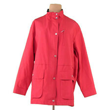 Burberry Coats Jackets Red Silver Woman Authentic Used T1106