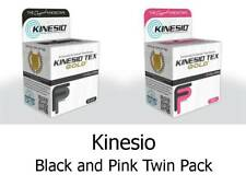 KINESIO FP Tape Rolls x2 5m by 5cm BLACK & PINK - Kinesiology Injuries & Support