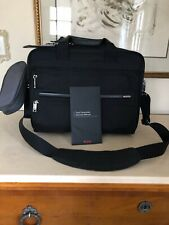 Tumi Alpha 2 Expandable Organizer Laptop Bag Brief Black  Nylon NEW!!