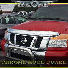 2004-2015 Nissan Titan Armada Chrome Bug Shield Deflector Hood Guard Protector