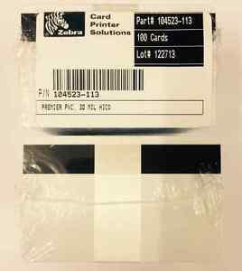 ZEBRA 104523-113 - 10 x 30MIL HI-CO MAG RAYURE - PREMIER PVC CARTES VIERGES