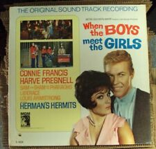 WHEN THE BOYS MEET THE GIRLS OST LP OOP mid-60's mono Sam The Sham Liberace