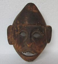 Vintage Old Wooden Tribal Man Face Mask Handcrafted  Collectible