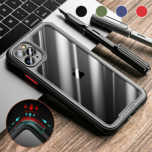 For iPhone 12 11 Pro Max XS XR 8 7 Plus Shockproof Bumper Clear Phone Case Cover