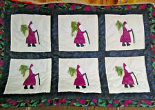 """Christmas wall hanging tapestry hand sewn 46"""" X 31"""""""