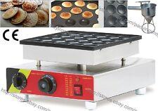 Commercial Nonstick Electric 25pcs Mini Dutch Pancake Maker Poffertje Iron Baker