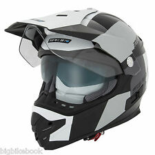 Spada Intrepid Adventure Motorcycle Helmet - White/Black