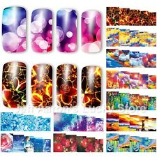 12PCS water transfer nail art sticker decals for nails decoration accessoires HQ