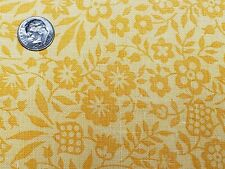 Best Vintage Feedsack Quilt Fabric 40s Tiny Floral Yellow Wwii Flour Full Sack