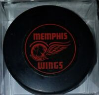 1964-65 CPHL CHL MEMPHIS WINGS VINTAGE HOCKEY OFFICIAL GAME PUCK SCARCE! READ!!