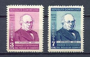 27904) DOMINICANA REP. 1940 MNH** Nuovi** Rowland Hill 2v