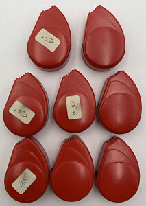 Olivetti Typewriter Red Plastic Knob Vintage NOS Replacement Part Lot Of 8 21123