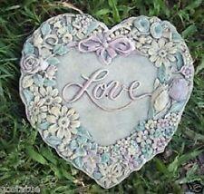 "plaster wax rapid set cement all mold plastic love heart  7"" x 1/4"""