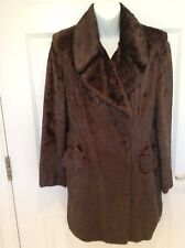 Vintage Style Brown Faux Fur Coat, Next, Size 8 - New Without Tags