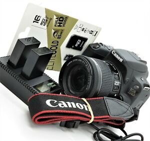 """AsNew Canon EOS 200D 24MP DSLR Camera + 18-55 STM M2 lens Flip Touch 3"""" LCD WiFi"""