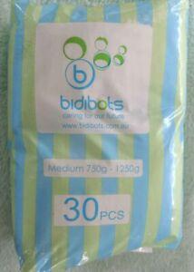 Bidibots Premature Baby nappies Medium 750-1250g premmie reborn doll 30 pack