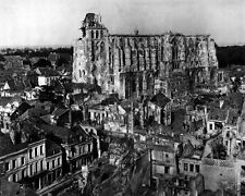 New 8x10 World War I Photo: Ruins around the Cathedral of Saint Quentin, France