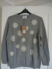 Mantaray Gris Brodée Florale Pull Sweater. UK 16 EUR 42-44 US 12. Bnwt