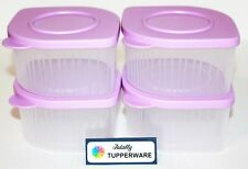 Tupperware Fresh N Cool Set of 4 Modular Containers 2 Cups Each Daisy Purple