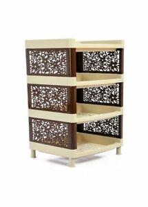 ECO Plastic Storage Unit with 4 Shelves for Kitchen, Bathroom, Bedroom