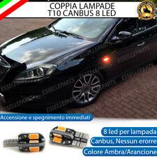 COPPIA LAMPADE FRECCE LED LATERALI LANCIA DELTA III T10 CANBUS NO ERRORE