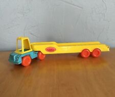 Vintage Tootsie Toy Car Carrier Semi Truck & Trailer 1968 for Playmates