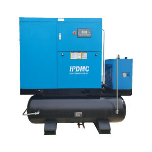 22KW 30Hp Rotary Screw Air Compressor with 500L Air Tank and Refrigerant Dryer