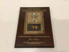Vintage Us Post Office Po Box 69 Brass Door Wood Plaque Natnl Postal Forum 1986