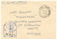 """BRITISH FIELD POST IN PALESTINE 1944 """"FIELD POST OFFICE 149"""" CDS maritime cover"""