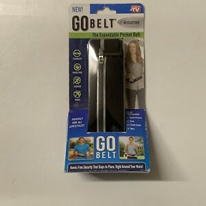 GO BELT The Expandable Pocket Belt, w Reflective Accent Strip, AS SEEN ON TV