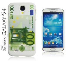 Custodia COVER 100 euro rigida per Samsung Galaxy Galaxy S4 SIV VE i9515 Bianca